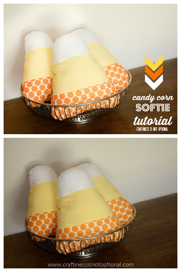 Candy Corn Softie Free Sewing Pattern
