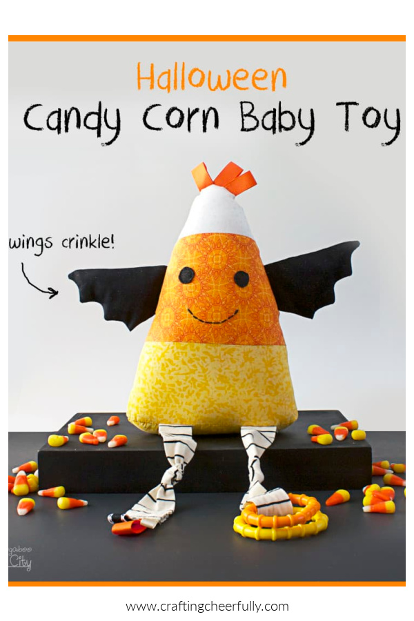 Candy Corn Stuffie Free Halloween Sewing Pattern