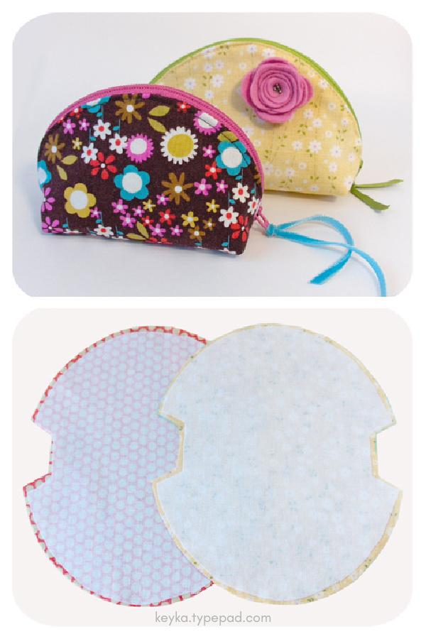 Dumplings Zip Pouch Free Sewing pattern