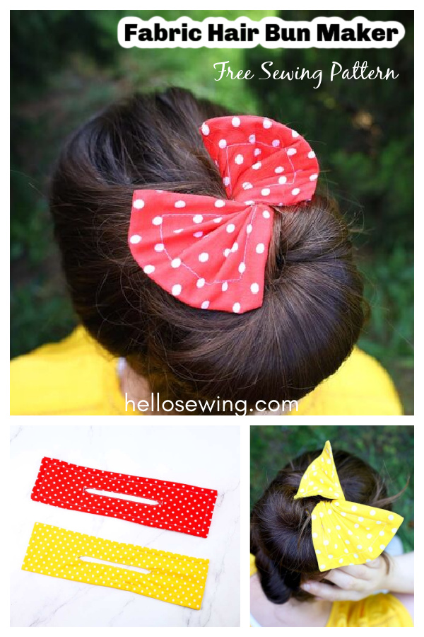 Fabric Hair Bun Maker Free Sewing Pattern and Video Tutorial