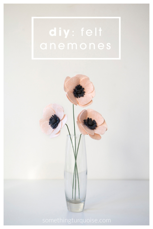 Felt Anemone Flower Free Sewing Pattern