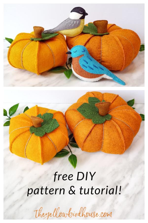 Felt Pumpkins Free Sewing Pattern