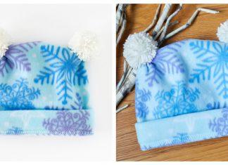 Fleece Pom Pom Hat Free Sewing Pattern