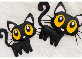 Halloween Black Cat Softie Free Sewing Pattern
