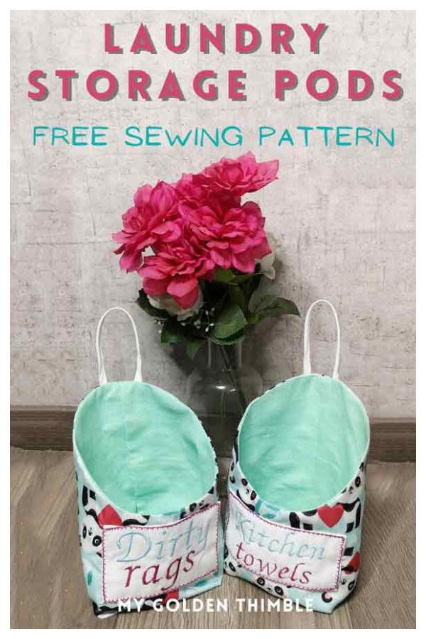 Hanging Storage Pod Free Sewing Pattern