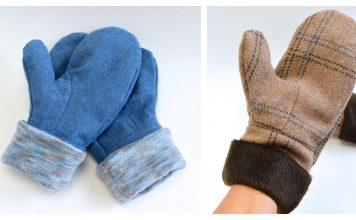 Mittens for Grownups Free Sewing Pattern