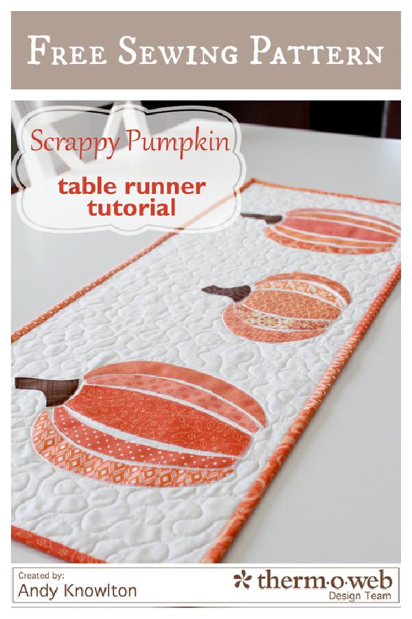 Scrappy Pumpkin Table Runner Free Sewing Pattern