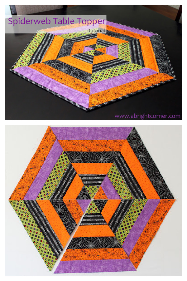 Spiderweb Table Topper Free Sewing Pattern