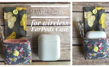 Wireless EarPods Case Free Sewing Pattern