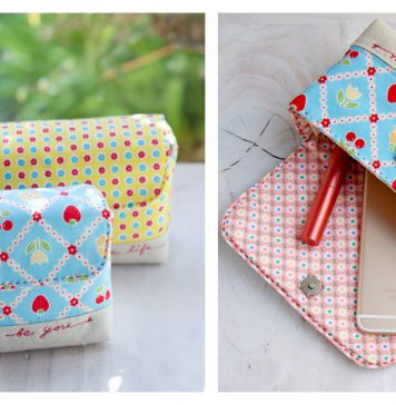 All in One Handy Pouch Free Sewing Pattern