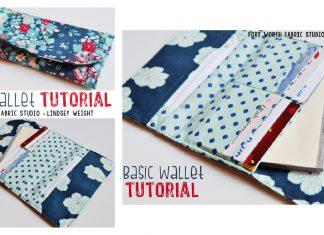 Basic Wallet Free Sewing Pattern