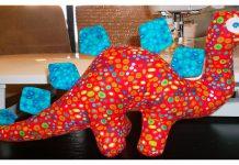 Plush Dinosaur Free Sewing Pattern