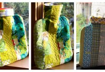 Quilted Hot Water Bottle Cover Free Sewing Pattern